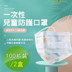 CS22 印花款三層防護兒童口罩-100入