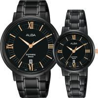 ALBA 雅柏 簡約設計情侶手錶 對錶 VJ42-X304SD+VJ22-X324SD
