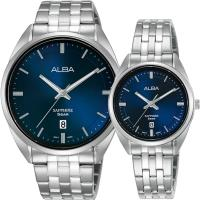 ALBA 雅柏 簡約設計情侶手錶 對錶 VJ42-X303B+VJ22-X323B