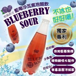 [老爸ㄟ廚房]藍莓氣泡沙瓦醋飲 1箱(24瓶/箱)