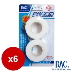 BAC倍爾康  通氣紙膠帶1吋X2裸x6入組
