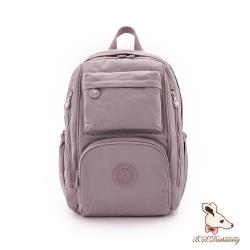 B.S.D.S冰山袋鼠 - 時光旅人 - 知性大容量附插袋後背包 - 淡紫色【B060-2PR】