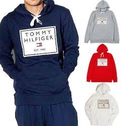 【Tommy Hilfiger】貼布繡大logo 長袖帽T 連帽外套 情侶款 男女生帽T  深藍/灰/白/紅