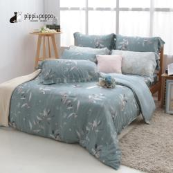 pippi  poppo 60支天絲萊賽爾LF纖維 四件式兩用被床包組 綠意盎然 (特大)