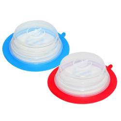 疊樂矽膠保鮮蓋 紅藍兩色 (居家廚房、餐桌、戶外野餐、露營等都適用)