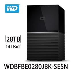 WD威騰 My Book Duo 28TB(14TBx2)USB3.1 3.5吋雙硬碟儲存 WDBFBE0280JBK-SESN