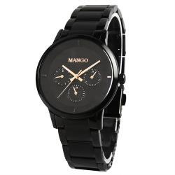 MANGO都會雅痞時尚錶-MA6751L-BK  (黑色/36mm)