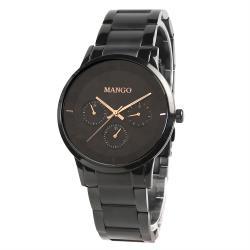 MANGO都會雅痞時尚錶-MA6751M-BK (黑色/43mm)
