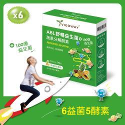 超值搶購↘Vigoway 威客維 ABL舒暢益生菌 蔬果分解酵素 6入組