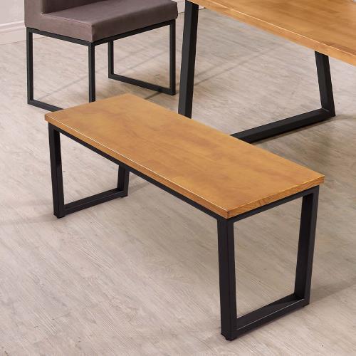 HD 威爾斯黑腳全實木面長凳