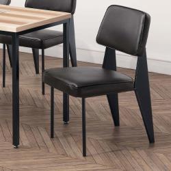 HD 格瑞斯黑皮餐椅