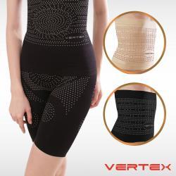 VERTEX遠紅外線碧璽石能量極雕塑束腰短褲套組(黑/膚)