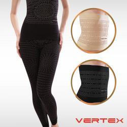 VERTEX遠紅外線碧璽石能量極雕塑束腰/長褲套組(黑/膚)