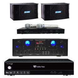 金嗓 CPX-900 A5電腦伴唱機 4TB+A-200 擴大機+EWM-P28 無線麥克風+K-08 主喇叭