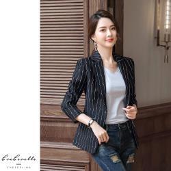 【GF 快時尚】韓系條紋修身西裝外套 (M~2XL)