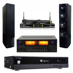 金嗓 CPX-900 A3 智慧點歌伴唱機 4TB+KARMEN X6 擴大機+OK-9D II 無線麥克風+AS-138 主喇叭