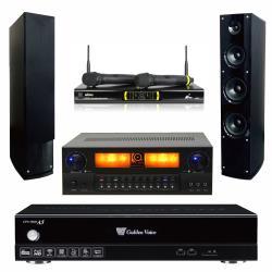 金嗓 CPX-900 A5電腦伴唱機 4TB+KARMEN X6 擴大機+OK-9D II 無線麥克風+AS-138 主喇叭