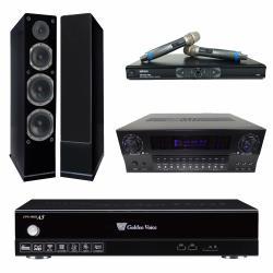金嗓 CPX-900 A5電腦伴唱機 4TB+KARMEN X3 擴大機+MR-865 無線麥克風+AS-168 主喇叭(黑)