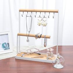 IDEA  格調簡約木質鐵藝珠寶展示架/首飾架/飾品架