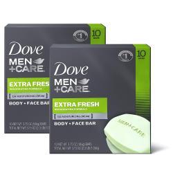 Dove Men + Care男用洗臉沐浴香皂3.75oz*2/組*6