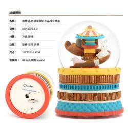 讚爾藝術 JARLL~遊樂場-奇幻溜滑梯 水晶球音樂盒(AO19026) 馬戲團遊樂園系列 (現貨+預購)