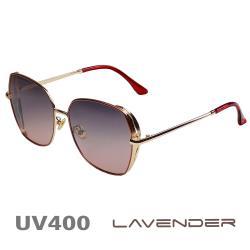 Lavender 偏光片太陽眼鏡 韓版邊框簍空款 時尚紅 8907 C05