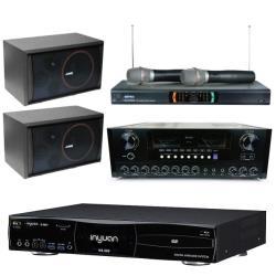 音圓 S-2001 N2-550 專業型卡拉OK點歌機 4TB+AK-868 擴大機+MR-2299D Ⅲ 無線麥克風+SK-8210 主喇叭