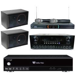 金嗓 CPX-900 A5電腦伴唱機 4TB+AK-868 擴大機+MR-2299D Ⅲ 無線麥克風+SK-8210 主喇叭