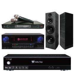 金嗓 CPX-900 A5電腦伴唱機 4TB+KARMEN X8 擴大機+LAND LM-750 無線麥克風+A-1090 主喇叭