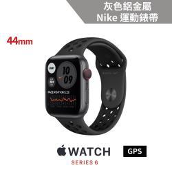 Apple Watch Nike S6 (GPS)44mm太空灰色鋁金屬錶殼+Nike運動錶帶