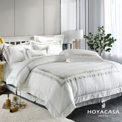 【型錄】HOYACASA 雙人300織刺繡兩用被床包組-型/網