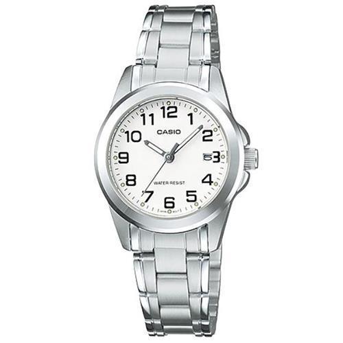 【CASIO】典雅新貴時尚腕錶-數字白面(LTP-1215A-7B2)/