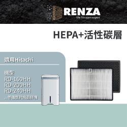 RENZA 濾網 適用Hitachi日立RD-200HH RD-240HH RD-280HH RD-320HH RD-360HH 空氣清淨除濕機