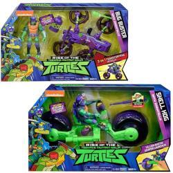 PLAYMATES 忍者龜 公仔戰鬥車 SHELL HOG + Bug Buster Cycle 2款1組