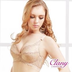 【可蘭霓Clany】典雅無痕蕾絲高脅邊高包覆EF內衣(可可咖 6918-15)