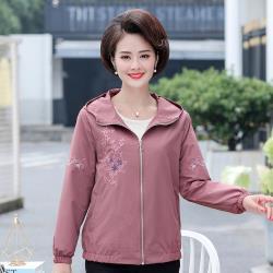 【艾洛妃】細膩繡花連帽輕薄休閒外套(3色任選)