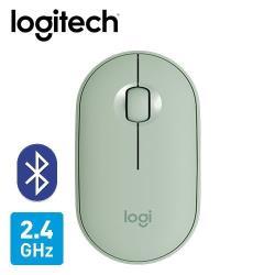 【Logitech 羅技】M350 鵝卵石無線滑鼠-薄荷綠 【贈可愛防蚊夾】