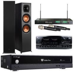 金嗓 CPX-900 A3 智慧點歌伴唱機 4TB+BT-889 PRO 擴大機+ACT-8299PRO 無線麥克風+R-820F 主喇叭