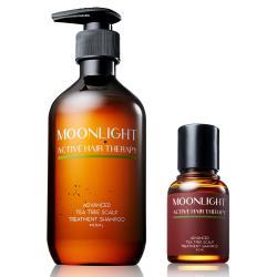 【買大送小】Moonlight 莯光 進化版茶樹控油淨化洗髮精 400 mL+50mL