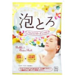 日本 牛乳石鹼 溫泉物語 奢華泡泡入浴劑30g-雞蛋花香