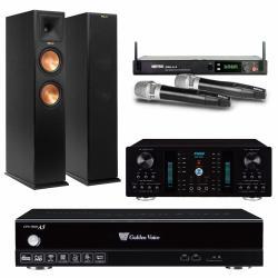 金嗓 CPX-900 A5電腦伴唱機 4TB+A-350 擴大機+PRO-2.4 無線麥克風+RP-260F 主喇叭