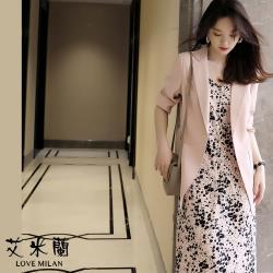 【艾米蘭】韓版簡約口袋造型西裝外套 (S~XL)