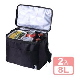 真心良品xUdlife 酷黑摺疊保溫保冷袋8L-2入組