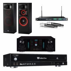 金嗓 CPX-900 R2電腦伴唱機 4TB+A-350 擴大機+ACT-869 PRO 無線麥克風+XLS-12 主喇叭
