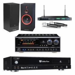 金嗓 CPX-900 R2電腦伴唱機 4TB+BB-1 BT 擴大機+ACT-869 PRO 無線麥克風+SL-15 主喇叭