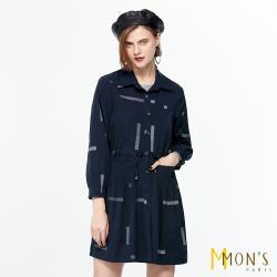 MONS 率性翻領條紋修身造型外套