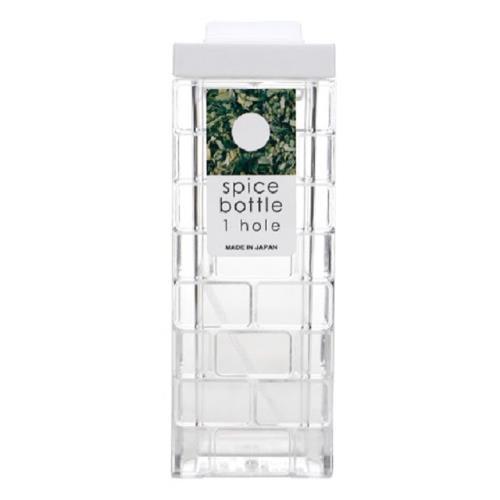 日本製 INOMATA 單孔調味罐 白