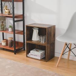樂嫚妮歐式木質組合櫃 空櫃收納櫃2入組合
