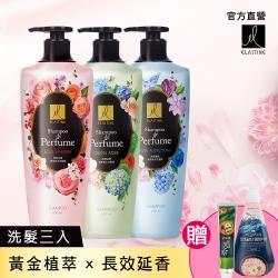 【ELASTINE 伊絲婷】專屬訂製奢華香水洗髮精買3送1