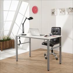 《BuyJM》木紋白低甲醛120公分穩重型工作桌/電腦桌附電線孔I-B-DE087WH